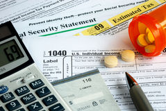 Stress in filing the income tax return Stock Photo