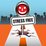 Stress free plate Royalty Free Stock Image