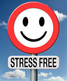 Stress free relaxation no pressure. Stress free totally relaxed without any pressure succeed in stress test trough stress management and control external Royalty Free Stock Photo