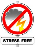 Stress free sign Royalty Free Stock Photography