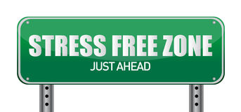 Stress free Zone just ahead illustration sign Stock Images