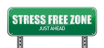 Stress free Zone just ahead illustration sign. Design royalty free illustration
