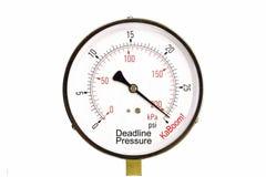 Stress Gauge. A conceputal gauge of business deadline pressure Stock Images