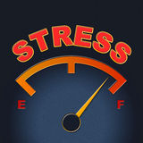 Stress Gauge Means Indicator Dial And Pressure Royalty Free Stock Photography