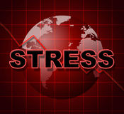 Stress Graph Represents Profit Pressure And Stressing Royalty Free Stock Photos