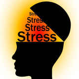 Stress in head royalty free illustration