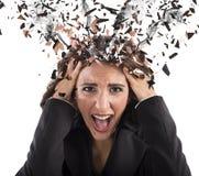 Stress head in smoke Royalty Free Stock Image