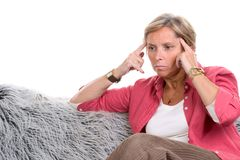 Stress and headache Royalty Free Stock Images