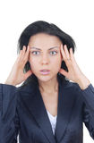 Stress and headache after brainstorming Royalty Free Stock Photo