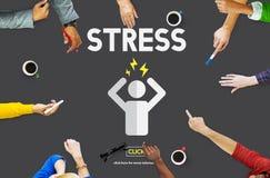 Stress Headache Migraine Panic Tension Unhappy Concept Royalty Free Stock Photo