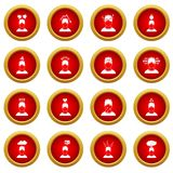 Stress icon red circle set Stock Photography