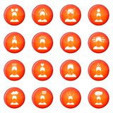Stress icons vector set Royalty Free Stock Photography