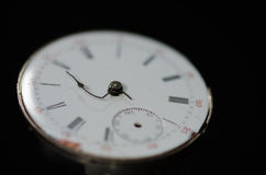 Stress of Impending Deadline Visible on Vintage Pocket Watch. Stress of Impending Deadline Visible on Face of the Vintage Pocket Watch Royalty Free Stock Images