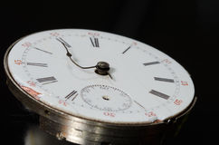 Stress of Impending Deadline Visible on Vintage Pocket Watch Royalty Free Stock Image