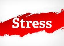 Stress Red Brush Abstract Background Illustration stock illustration