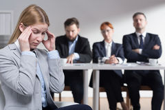 Stress before job interview Stock Photography