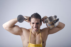 Stress in the kitchen Stock Photography