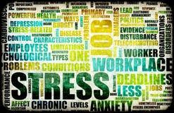 Stress laboral stock de ilustración