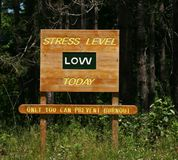 Stress Level low sign Stock Image