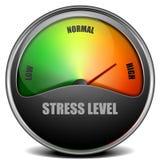 Stress Level Meter gauge Stock Photo