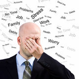 Stress Man Royalty Free Stock Photo
