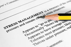 Stress management Royalty Free Stock Image