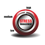 Stress management button Royalty Free Stock Image