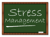Stress Management - Classroom Board. Image with Stress Management on classroom board stock illustration