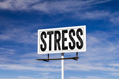 Stress Message on Billboard Royalty Free Stock Image