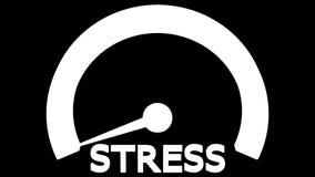 Stress meter arrow move. 3D rendering. stock video footage