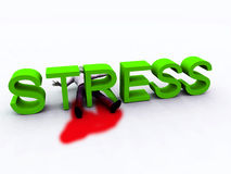 Stress Is Murder 2. An image of a person who is literally killed by the danger of stress Stock Photos