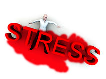 Stress Is Murder. An image of a person who is literally been killed by the danger of stress Royalty Free Stock Photos