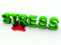Stress Is Murder 4. An image of a person who is literally killed by the danger of stress Royalty Free Stock Photos