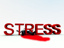 Stress Is Murder 5. An image of a person who is literally killed by the danger of stress Stock Images