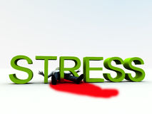 Stress Is Murder 7. An image of a person who is literally killed by the danger of stress Royalty Free Stock Photo