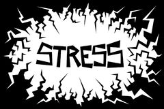 Stress. Negative environment is causing stress - mind and mental condition is under pressure - disturbing and uneasy feeeling. Vector illustration Royalty Free Stock Images