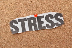 Stress Newspaper Clipping Royalty Free Stock Photos