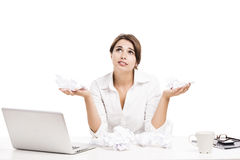 Stress in the office royalty free stock images