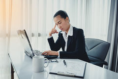 Stress in the office Royalty Free Stock Photo