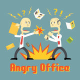 Stress in Office. And people get in angry mood Stock Photography