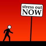 Stress out. Keeping calm and trying to stress out Stock Photography