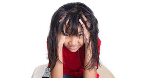 Stress Out Young Asian Girl II Stock Photos