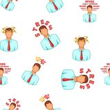 Stress pattern, cartoon style Royalty Free Stock Photography