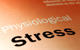 Stress. Physiological stress and health-care concept Royalty Free Stock Image