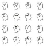 Stress & Pressure Icons Thin Line Vector Illustration Set. This image is a vector illustration and can be scaled to any size without loss of resolution Royalty Free Stock Images