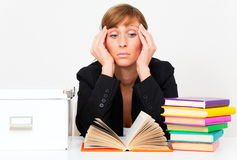 Stress pressure learning Stock Photography
