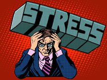 Stress problems severity businessman business Stock Images