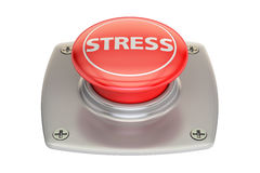 Stress Red Button, 3D rendering Royalty Free Stock Photos