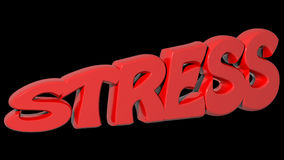 STRESS red 3D write - 3D rendering Royalty Free Stock Image