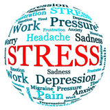 Stress related text arrangement Stock Image
